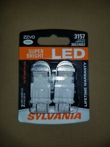 Sylvania ZEVO LED 3157 Pair Set LED Lamps Bulbs 3057/4057 NEW WHITE