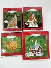 New 4 Hallmark Christmas Ornaments Church Series Candlelight Services 1998-2001