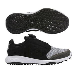 Puma Grip Fusion Sport Jrs DISC 192246 01 Size 5c Black Quarry Golf Shoes New