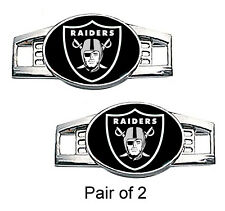 Oakland Raiders Shoe Charms / Paracord Charms