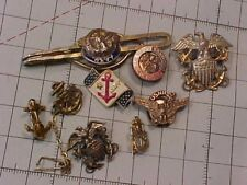 ORIGINAL WWII USN PIN / INSIGNIA LOT -SOME STERLING
