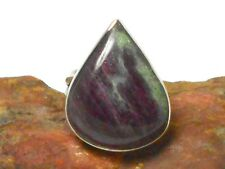 RUBY  ZOISITE   Sterling  Silver  925  Gemstone  RING  -  Size: P  -  Gift Boxed