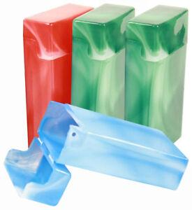 4 Pack Crush-Proof Plastic Flip Top Hinged Lid Cigarette Case for 100's - 3214