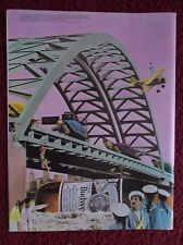 1984 Print Ad Bud Budweiser Beer ~ Surreal Scenes Sailors Turtles Planes Bridge