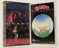 LOT OF 2 HEART CASSETTES TAPES  ~ MAGAZINE & SELF TITLED ~ CLASSIC ROCK