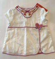 NWT Gymboree Tea Garden White Flower Shirt Top Butterfly Size 18 24 Month