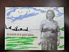 """ACEO-""""QUIET PLACE"""" Original/Signed Mixed Media/Contemporary Art/Prose People"""