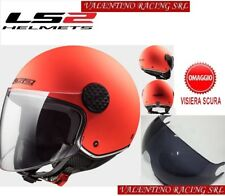 CASCO JET LS2 OF558 SPHERE LUX MATT ORANGE MIS M 57 Cm VISIERA FUME OMAGGIO