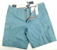 $55 Tommy Hilfiger Turquoise Blue Mens Size 40W Button Zip-Fly Cargo Shorts New