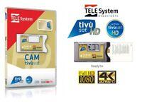 Tivusat TELESYSTEM HD 4K Kamera und Karte BRANDNEU