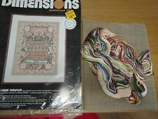 Dimensions Counted Cross Stitch Linen Sampler 25 Count 35cm by 45cm