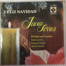 """JUAN TORRES -EL NIÑO DEL TAMBOR / PASEO EN TRINEO- 1972 MEXICAN 7"""" EP PS XMAS"""