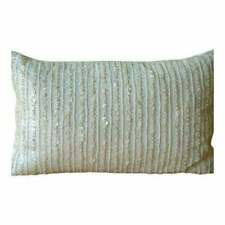 "Ivory Art Silk 12""x14"" Lined Mother Of Pearl Lumbar Pillow Cover - Pearl Harbour"