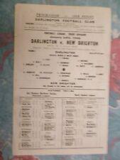 1947/48 Football Programme: DARLINGTON v NEW BRIGHTON - 24th January