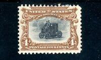 USAstamps Unused FVF US 1901 Pan-American Automobile Scott 296 Part OG MHR