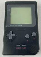 Nintendo GameBoy Pocket Black - Handheld Console MGB-001 Scratched Screen Tested