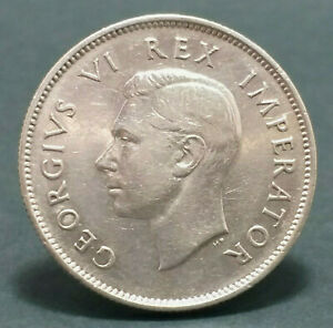 SOUTH AFRICA SILVER COIN GEORGE VI 2 SHILLING 1937