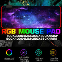 Large RGB Colorful LED Lighting Gaming Mouse Pad Mat for PC Laptop 14 Lighting