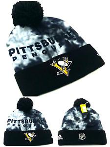 Pittsburgh Penguins New Adidas Cuffed Beanie Toque Black White Gray Era Hat Cap