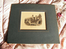 "Haddon  Hall  Antique  Print  (Taken From The Garden)  Ready For Framing 8"" x 7"""