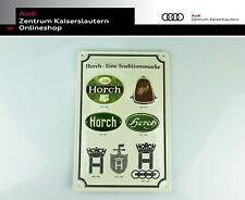 Blechschild Audi Tradition Horch - eine Traditionsmarke Sammler Stahlblech