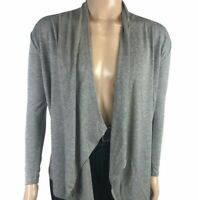 Rags and Couture Hacci Draped Cardigans Womens Size Large Gray