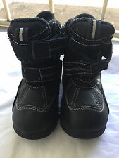 The Childrens Place Toddler / Kids Snow Boot Size 10 Black Gray