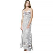 2016 NWT WOMENS ELEMENT POOLSIDE DRESS $60 M grey maxi crossover dress