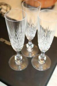 3 Flûtes à Champagne Cristal taillé SAINT LOUIS