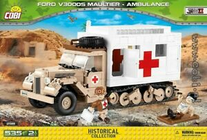 COBI  2518  Ford V3000S Maultier Ambulance  blocks WWII German auto car