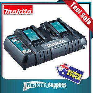 Makita Battery Rapid Charger 18v LXT Li-Ion Cordless Dual DC18RD Genuine Makita