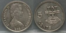 SOLOMON ISLANDS - five 5 cents 1985