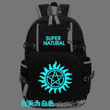Supernatural TV Sam Dean Luminous Backpack Shoulder Bag packsack Night Light