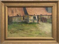Alter Bauernhof Landhaus Alfred Pedersen Dänemark Ölgemälde 45,5 x 60,5 cm