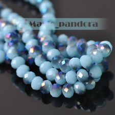 8mm 30/72pcs Rondelle Faceted Jewelry Findings Crystal Glass Loose Spacer Beads