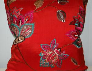 "Colefax & Fowler, Ashlar, embroidered Silk, cushion cover, 18x18"""