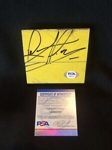 Dennis Rodman Signed Game Used Lakers Floorboard PSA/DNA Authenticated