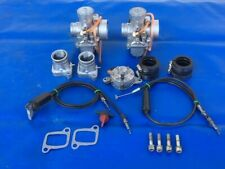 Rotax 377 447 503 Twin-Dual Carburetor Set-Up Conversion Carbs Pump Intakes NICE
