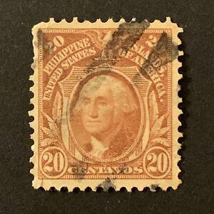 U2/83 US Philippines Stamp Scott 248 20c UNH Beautiful Unusual Fancy Cancel