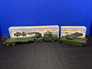 Dinky Toys Supertoys Tank Transporter #660 Centurion Tank #651 With Boxes