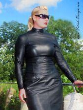 Leder Oberteil Leder Top Ledertop Shirt Schwarz Zipper S M L XL XXL 3XL 4XL 5XL