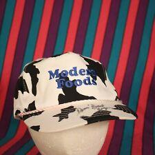 Modern Foods Cow Spots Hat Cap Trucker Retro Hipster Snapback Adjustable