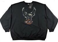 Harley Davidson Patina Eagle Crew Neck Sweatshirt Mens 4XL Black 96491-20VM