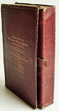 1877 2nd ed JOHN BELLOWS French English Dictionary for the Pocket leather VGC