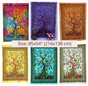 Large Wall Hanging Tapestry Mandala Tree of Life Boho Bohemian Art Decor 85x54""