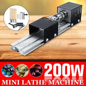 200W Mini Drehmaschine Drehbank Perlen Polier Holzbearbeitung  ♮