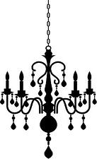 Large Chandelier design # 1 vinyl wall decal