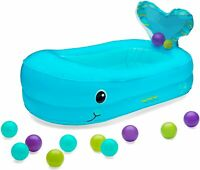 Infantino Whale Bubble Ball Infatable Bath Tub Ball Pit Bathtime Fun Baby