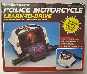 1991 DRIVING GAME LEARN TO DRIVE POLICE MOTORCYCLE Battwry op NEW IN BOX. 🤯