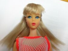 VINTAGE BARBLE BLONDE TNT TWIST & TURN DOLL W/SWIMSUIT COVERUP EXC SHAPE